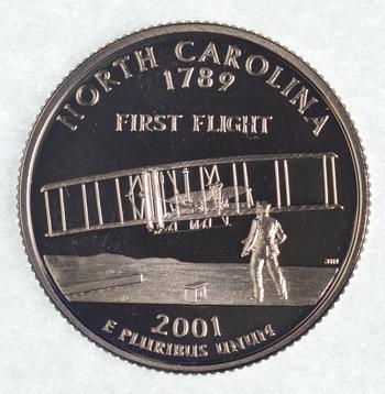 2001-S North Carolina State Washington Quarter - Proof Cameo