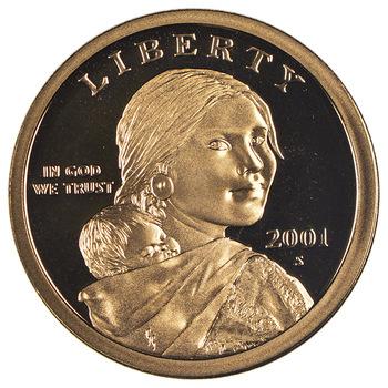2001-S Proof Deep Cameo Sacagawea Golden Dollar