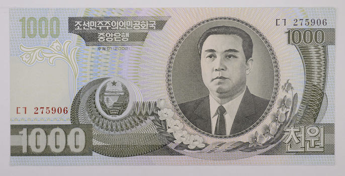 2002 1000 Won North Korean Note