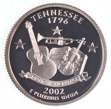 2002-S Tennessee State Washington Quarter - Proof Cameo
