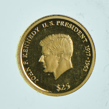 2003 Liberia 25 Dollars - World Gold Coin