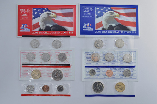 2003 Official U.S. Mint Set P&D - 20 Uncirculated Coins Including Sacagawea Dollars and State Quarters