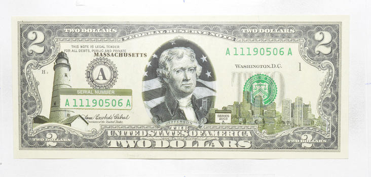 2003 'State Overlay' Limited Edition $2.00 FRN Note - Collectible!