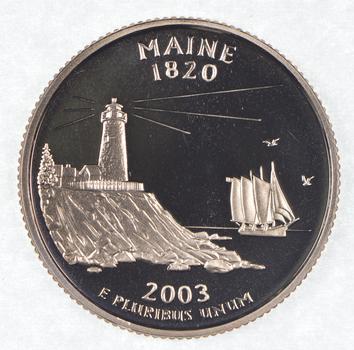2003-S Maine State Washington Quarter - Proof Cameo