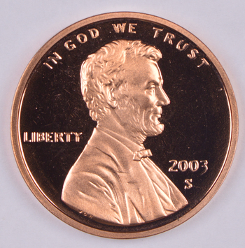 2003-S Proof CAMEO - Lincoln Memorial Cent - San Francisco Minted