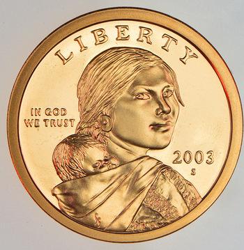 2003-S Proof Deep Cameo Sacagawea Golden Dollar