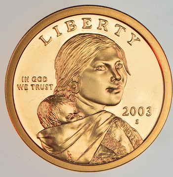 2003-S Proof Deep Cameo Sacagawea Golden Dollar
