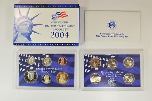 2004-S 11 Coin Deep Cameo U.S. Proof Set