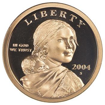 2004-S Proof Deep Cameo Sacagawea Golden Dollar