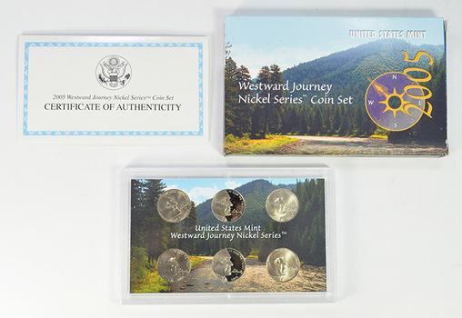 2005 6 Coin Westward Journey Jefferson Nickel Coin Set - US Mint - Includes (2) Proof Coins