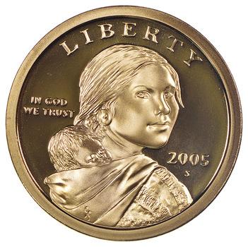 2005-S Proof Deep Cameo Sacagawea Golden Dollar