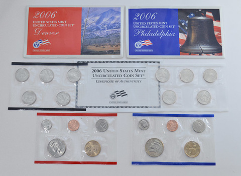 2006 Official U.S. Mint Set P&D - 20 Uncirculated Coins Including Sacagawea Dollars and State Quarters