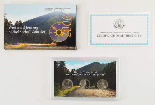 2006 3 Coin Westward Journey Jefferson Nickel Coin Set - US Mint - Includes (2) Proof Coins