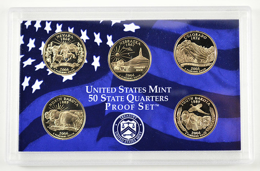 2006-S 5 Coin State Quarter Proof Set