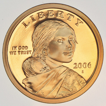 2006-S Deep Cameo Proof  Sacagawea Dollar