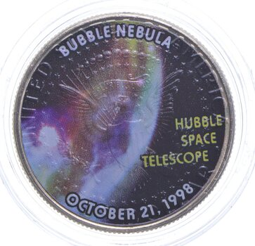2007-P Hubble Space Telescope SPACE Colorized Kennedy Half Dollar
