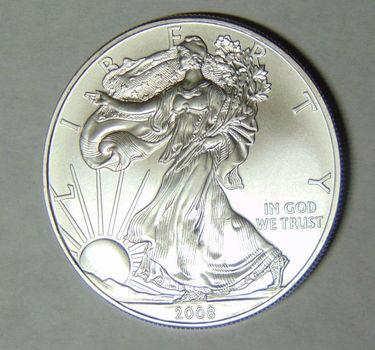 2008 American Silver Eagle 1 Troy Oz .999 Fine Silver