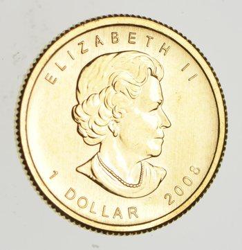 2008 Canada 1/20 Oz Gold Dollar - Gold World Coin