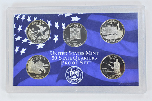 2008-S 5 Coin State Quarter Proof Set