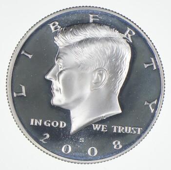 2008-S Gem Deep Cameo Proof Kennedy Half Dollar 90% Silver