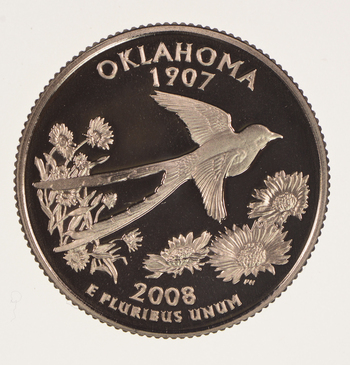 2008-S Oklahoma State Washington Quarter - Proof Cameo