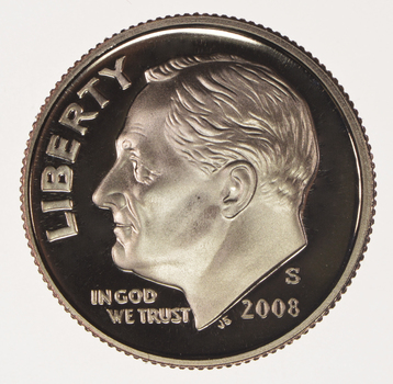2008-S Proof Cameo Roosevelt Dime - San Francisco Minted