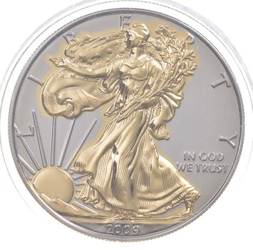 2009 Beautifully Painted/Sticker American Silver Eagle 1 Oz. .999 Fine