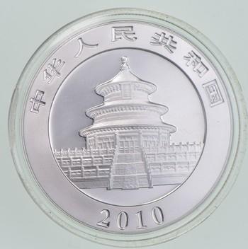 2010 China 1 Troy Oz .999 Fine Silver Chinese Panda Uncirculated