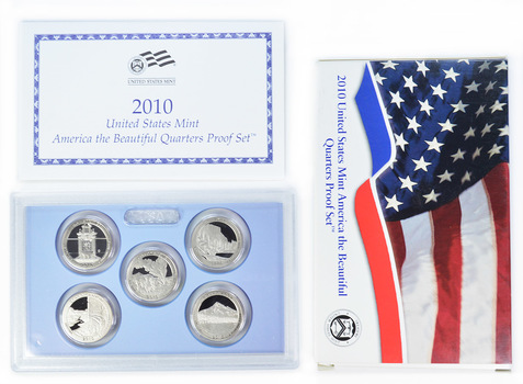 2010-S 5 Coin America The Beautiful Quarter Proof Set