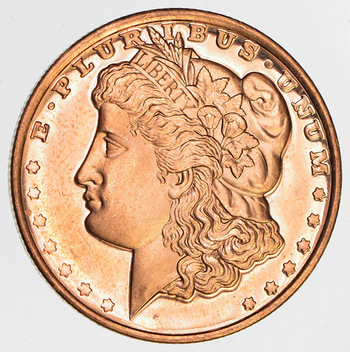 2011 1/4 Oz. .999 Fine Copper Proof Morgan Round