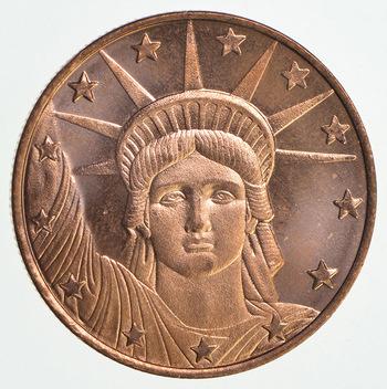 2011 1/4 Oz. .999 Fine Copper Proof Statue of Liberty Round
