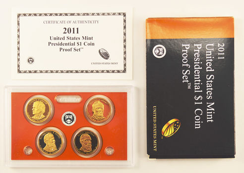 2011-S 4 Coin Presidential Dollar Proof Set