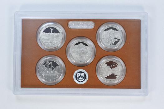 2011-S 5 Coin National Park Quarter Proof Set
