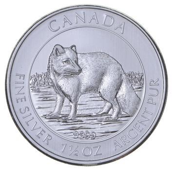 2014 1.5 oz Canada Silver Arctic Fox $8 Coin .9999 Fine Brilliant Uncirculated