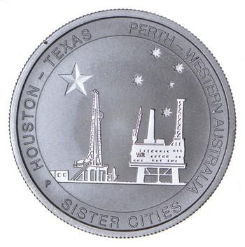 2014 Houston Texas - Australia Sister Cities 1/2 oz .999 Silver Oilfield Coin
