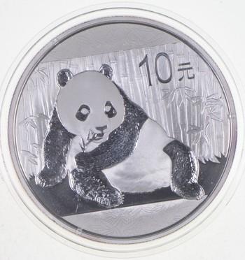 2015 China 1 Troy Oz .999 Fine Silver Chinese Panda Uncirculated