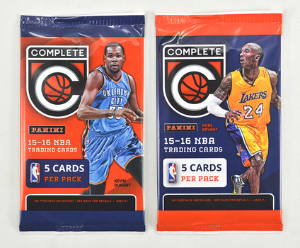 2015-2016 Panini SEALED Complete Basketball Trading Card Pack - 5 Cards Per Pack!