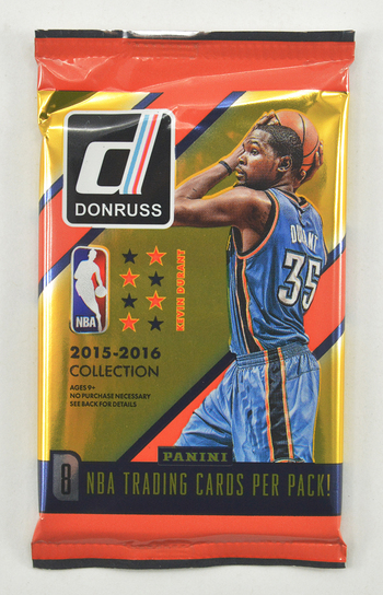2015-2016 Panini SEALED DonrussNBA Basketball Trading Card Pack - 8 Cards Per Pack!