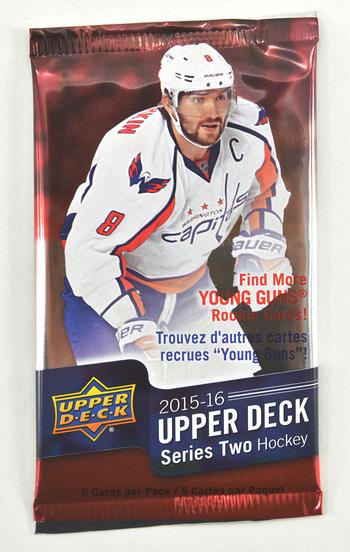 2015-2016 Upper Deck SEALED SeriesII Hockey CardPack - 5 Cards Per Pack!