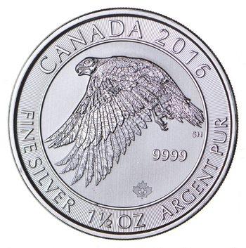 2016 1.5 oz Canada Silver White Falcon $8 Coin .9999 Fine Brilliant Uncirculated