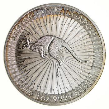 2016 - Australian Kangaroo - One Dollar - 1 Troy Oz .9999 Fine Silver - Highly Collectible Coin