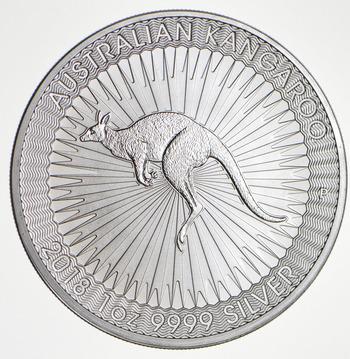 2018 - Australian Kangaroo - One Dollar - 1 Troy Oz .9999 Fine Silver - Highly Collectible Coin