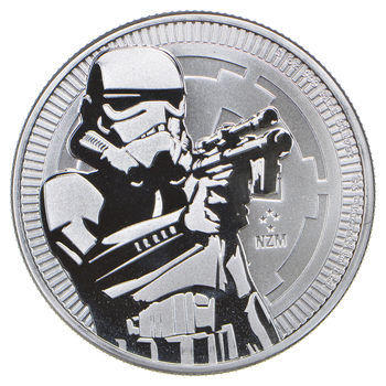 2018 - Niue $2 - Storm Trooper - 1 Troy Oz .999 Fine Silver - Highly Collectible Coin