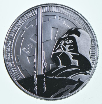2018 Niue Star Wars Classic - Darth Vader Light Saber 1 oz Silver $2 Coin GEM BU
