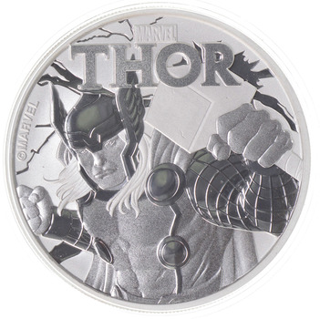 2018 - Tuvalu -Thor - One Dollar - 1 Troy Oz .9999 Fine Silver - Highly Collectible Coin