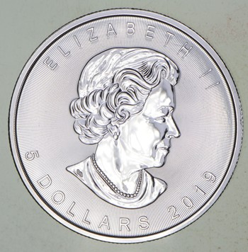 2019 - Canada $5.00 Silver Maple Leaf - 1 Troy Oz .9999 Fine Silver - Highly Collectible Coin