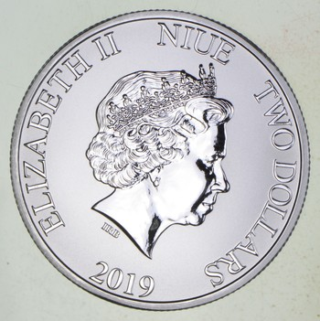 2019 - Niue $2 Dollars Silver Stormtrooper - 1 Troy Oz .9999 Fine Silver - Highly Collectible Coin