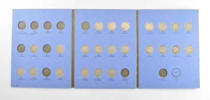 23 Coins Near Complete 1883-1912 Liberty V Nickel Set - US Collection Lot