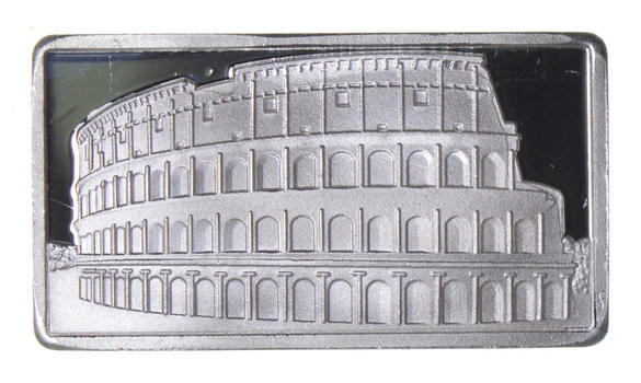 2.5 Gram .999 Fine Silver Bar -Colosseum- Only 300 Pcs Minted!