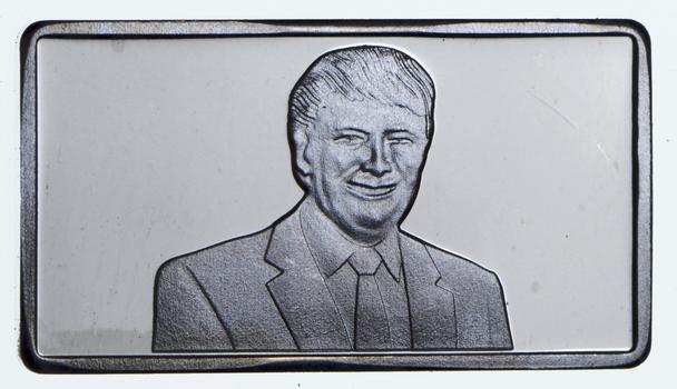 2.5 Gram .999 Fine Silver Bar -Donald Trump- Only 300 Pcs Minted!